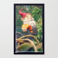 gnome Canvas Prints featuring Gnome by Angelandspot