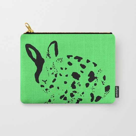 Harlequin Rabbit Spots Carry-All Pouch