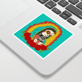 Virgin de Guadalupe Sugar Skull Sticker