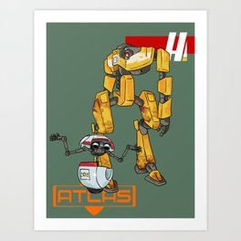 Loaderbot and gortys Art Print