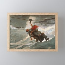 The Life Line by Winslow Homer, 1884 Framed Mini Art Print