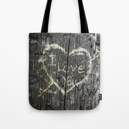 The Carving Tree - I Love You Tote Bag