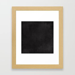 Simple Chalkboard background- black - Autum World Framed Art Print