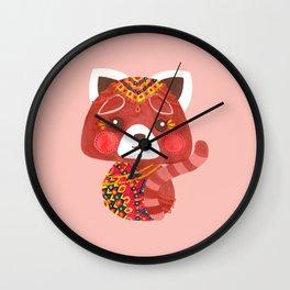 Jessica The Cute Red Panda Wall Clock