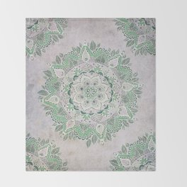 Spring Rain Mandala Throw Blanket