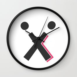 T-Shirt X with Two Ball - Limited Edition! Wall Clock