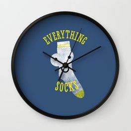 Everythings Socks Wall Clock