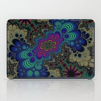 novelty iPad Cases featuring Peacock Fractal by Moody Muse