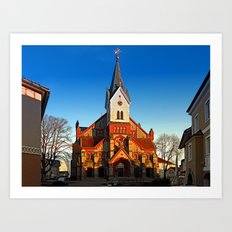 The village church of Aigen II | architectural photography Art Print