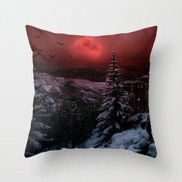 Dark Winter Escape Throw Pillow