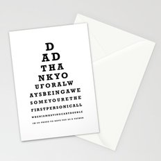 Fathers Day Gift - Eye Test Stationery Cards