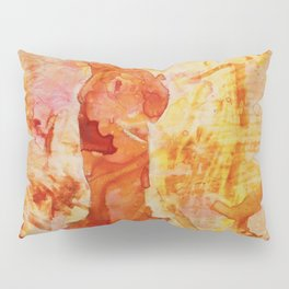 Watercolor painting of the iconic  Statue of Liberty in New York Harbor at sunset- New York City, US Pillow Sham