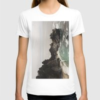 big sur T-shirts featuring BIG SUR, CA WATERFALL AND COAST by Jeremiah Wilson