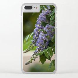 Purple Wisteria Clear iPhone Case