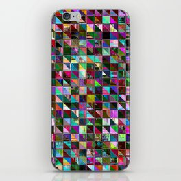 glitch color pattern iPhone Skin