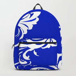 Damask Blue and White Backpack