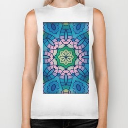 Fun with Coloring Mandala Style 4 Biker Tank