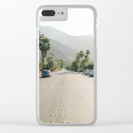 Palm Springs Road Clear iPhone Case