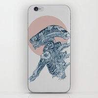 xenomorph iPhone & iPod Skins featuring Floral Alien by Marie Toh