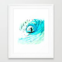 surfer Framed Art Prints featuring Surfer by Bruce Stanfield