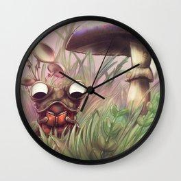 Reading frog Wall Clock