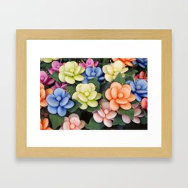 Sugared almonds as petals Framed Art Print