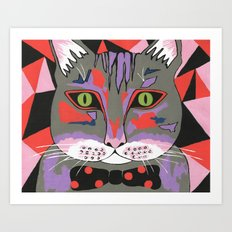 Mr Cat Art Print