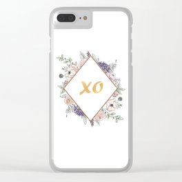 Lettering and Watercolor Flowers #3 Clear iPhone Case