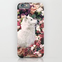 Cute Floral Wolf Flower iPhone Case