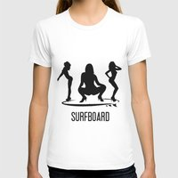 surfboard T-shirts featuring surfboard by August Riche