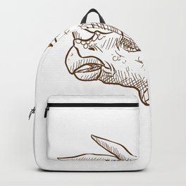 Retro Triceratops Dinosaur Gifts Backpack
