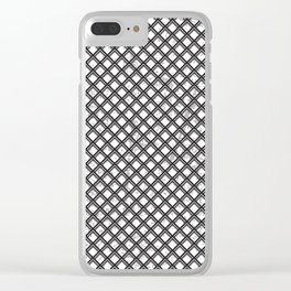 Metal Pattern Clear iPhone Case