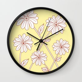 Flowers and vines #2 Wall Clock