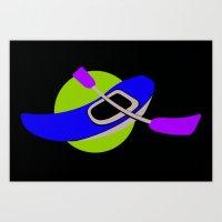 logo Art Prints featuring LOGO by Donna Mafoda