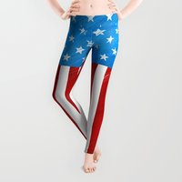 america Leggings featuring America the Beautiful by Noonday Design