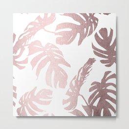 Rose Gold Island Metal Print