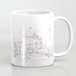 Watercolor landscape illustration_India - Taj Mahal Coffee Mug