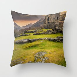 Dolbadarn Castle Snowdonia Wales Throw Pillow