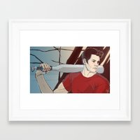 stiles Framed Art Prints featuring stiles by kala