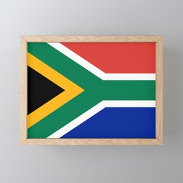 South African flag of South Africa Framed Mini Art Print