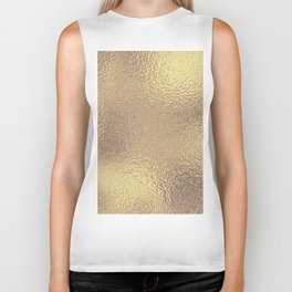 Simply Metallic in Antique Gold Biker Tank