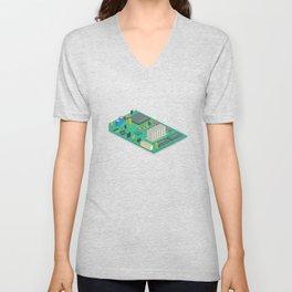 circuit board Unisex V-Neck
