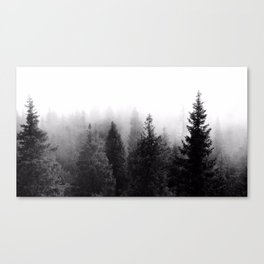 Silent Forest Dark Canvas Print