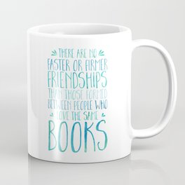 Bookish Friendship - Blue Coffee Mug