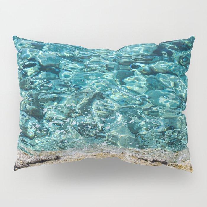 Crystal Blue Ripple Pillow Sham