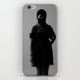 B with ski mask iPhone Skin