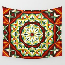 Winter cheer, abstract pattern design Wall Tapestry