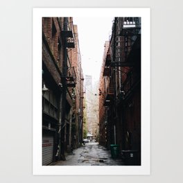 Alley in the city of Seattle Washington Art Print