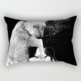 asc 257 - Le grand frère (The elder brother) - Night version Rectangular Pillow