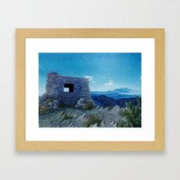 Kiwanis Cabin in Sandia Mountains Framed Art Print